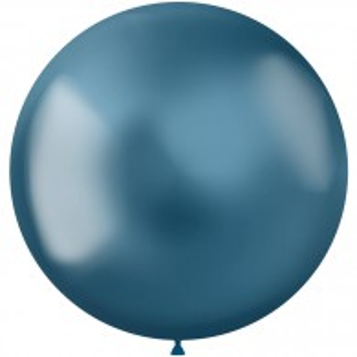 Blauwe ballonnen Metal Shine Blue 48cm 5st