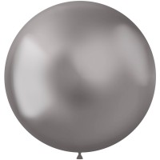 zilveren latex XL grote ballonnen metallic