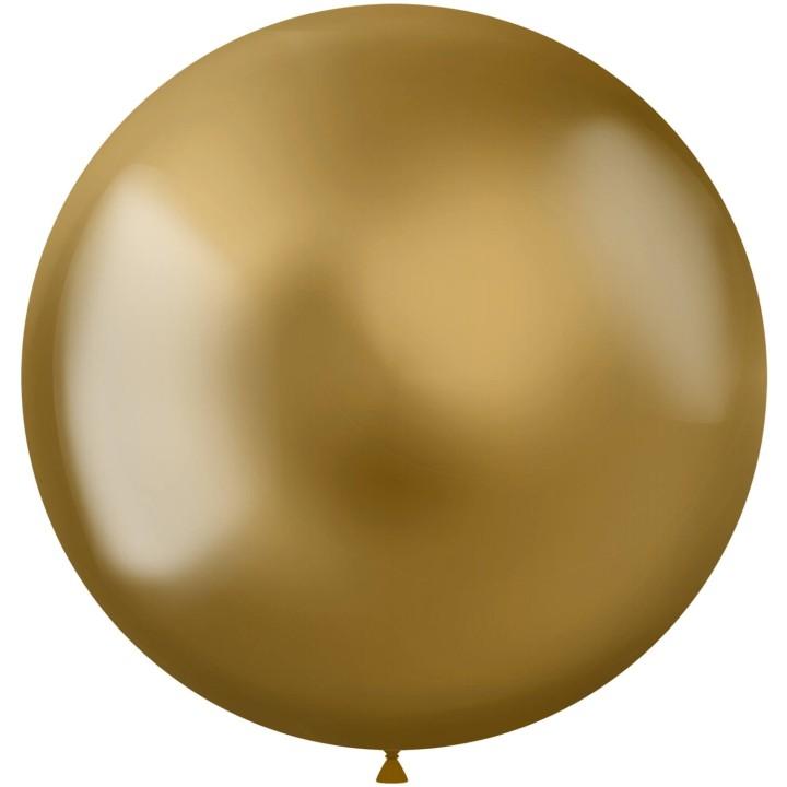 Gouden ballonnen Metal Sine Gold 48cm 5st