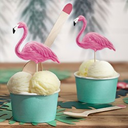 cupcake toppers flamingo taarttoppers