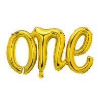 "Folieballon ""One"" goud 66cm"