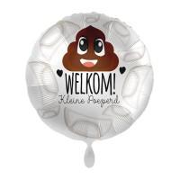 Folie ballon geboorte welkom kleine poeperd