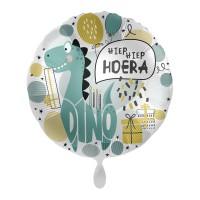 Folie ballon verjaardag hiep hiep hoera dino