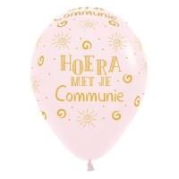 Communie ballonnen pastel roze 30cm 5st
