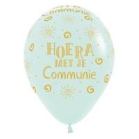 Communie ballonnen pastel groen 30cm 5st