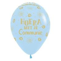 Communie ballonnen pastel blauw 30cm 5st