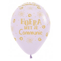 Communie ballonnen pastel lila 30cm 5st