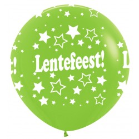 Grote ballon Lentefeest groen XL 90 cm