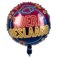 Folie ballon Hoera Geslaagd 45 cm