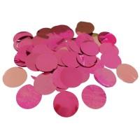 Ballon confetti XL metallic roze 250gr