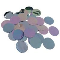 Ballon confetti XL metallic blauw 250gr
