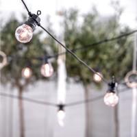 LED lichtslinger buiten 10 lampen warmgeel