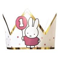 Verjaardagskroon 1 jaar Nijntje roze