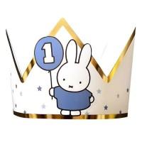 Verjaardagskroon 1 jaar Nijntje blauw