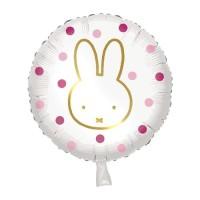"""Foilieballon Nijntje roze 18""""/45 cm"""