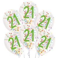 Confetti ballonnen verjaardag 21 jaar