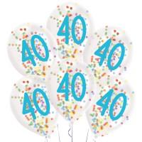 Confetti ballonnen verjaardag 40 jaar versiering