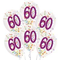 Confetti ballonnen verjaardag 60 jaar versiering