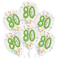 Confetti ballonnen verjaardag 80 jaar versiering