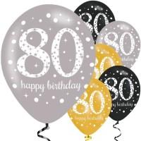 Verjaardag ballonnen 80 jaar verjaardagsfeest versiering