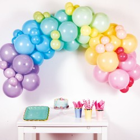 DIY ballonnenboog set pastel regenboog 78-dlg