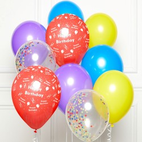 DIY Ballonnen boeket HB-day rainbow 10st