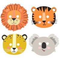 Dieren maskers kinderfeestje safari thema