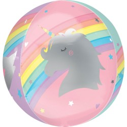 Folieballon Magical rainbow pastel 38 cm