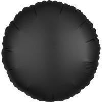 Folieballon Satin Luxe Zwart rond 43cm