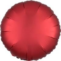Folieballon Satin Luxe Rood rond 43cm