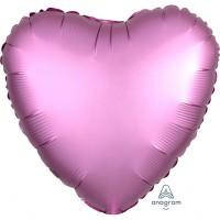 Folieballon Satin Luxe Roze hart 43cm