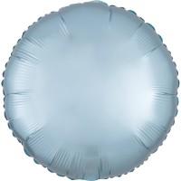 Folieballon Satin Luxe Pastel Blauw rond 43cm