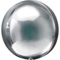 Folieballon Orbz bal Zilver 40 cm