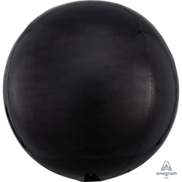 Folieballon Orbz bal Zwart 40 cm