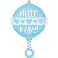 Folieballon JuniorShape Baby blauw 43x60cm
