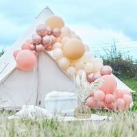 DIY luxe ballonboog set peach-pink 200-dlg