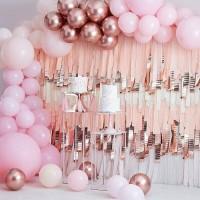 DIY luxe ballonboog set pink-roségoud 200-dlg
