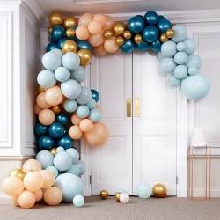 DIY luxe ballonboog set teal-goud 200-dlg