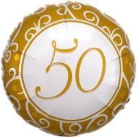 Folieballon Jubileum 50 jaar 43cm