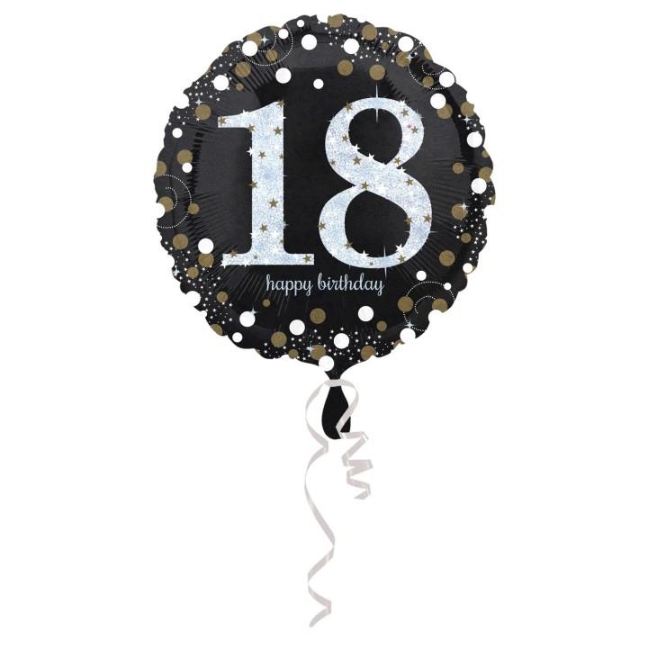 Folieballon Sparkling 18 jaar HBDay 43cm