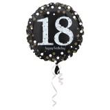 Folieballon verjaardag sparkling 18 jaar