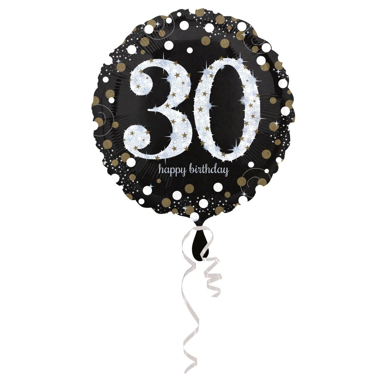 Folieballon verjaardag sparkling 30 jaar