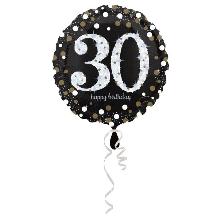 Folieballon Sparkling 30 jaar HBDay 43cm
