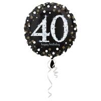 Folieballon Sparkling 40 jaar HBDay 43cm