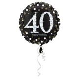 Folieballon verjaardag sparkling 40 jaar