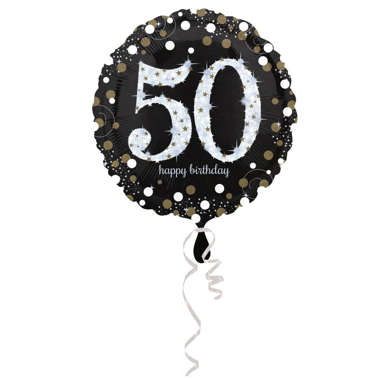 Folieballon verjaardag sparkling 50 jaar