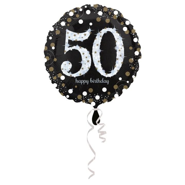 Folieballon Sparkling 50 jaar HBDay 43cm