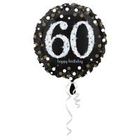 Folieballon Sparkling 60 jaar HBDay 43cm