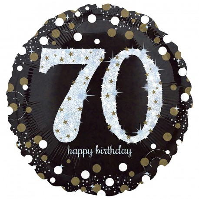 Folieballon verjaardag sparkling 70 jaar