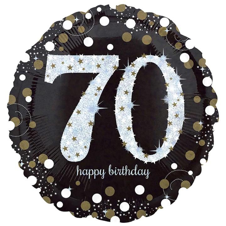 Folieballon Sparkling 70 jaar HBDay 43cm